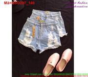 Quần short jean nữ rách phối 4 nút năng động QSO297 (Q9)