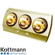 Đèn sưởi nhà tắm Kottmann 3 bóng màu vàng K3BG