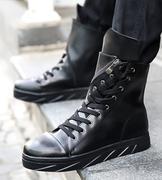 giày boot nam dây kéo xéo
