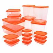 Bộ 17 hộp đựng thức ăn cao cấp màu cam