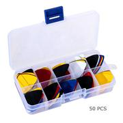 50pcs Acoustic Electric Guitar Picks Plectrums + 1 Plastic Picks Box Case (Intl)