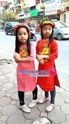Áo dài lụa có mấn trẻ em bé gái 1 đến 10 tuổi