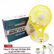 QUẠT SẠC MINI FAN, KIÊM ĐÈN LED PIN DÙNG LIÊN TỤC 4-6H JR5580 +Tặng đèn ngủ cảm biến Avata