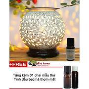 Bộ tinh dầu bạc hà thơm phòng (10ml) và đèn xông tinh dầu điện size L AH81+ Tặng 1 chai tinh dầu bạc...
