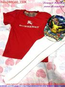 Bộ đồ bé gái quần dài áo tay ngắn Burberry đơn giản DBBG60