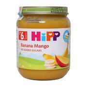 Dinh dưỡng đóng lọ HiPP chuối, xoài 125g (Trên 6 tháng)