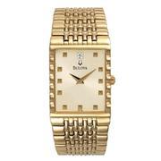 Bulova 97F58 Diamond Series Ivory Dial Men's Watch