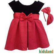 Đầm voan đỏ NOEL bé gái AD61