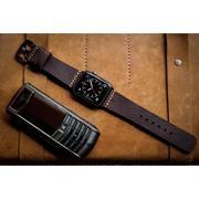 Dây đồng hồ da thật Handmade cho Apple Watch ( 38mm và 42mm ) – Mẫu BF93D6