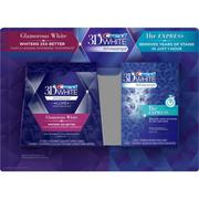 CREST 3D WHITE WHITESTRIPS - GLAMOROUS WHITE & 1 HR EXPRESS