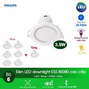(Mua 6 tặng 1) Đèn Philips LED Downlight âm trần 80080 3.5W - Ánh sáng trắng
