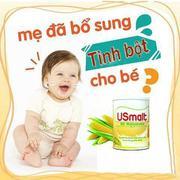 Tinh bột thủy phân Usmalt cho trẻ biếng ăn, chậm lớn