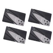 Bộ 4 dao gấp hình thẻ ATM SinClair (Đen)