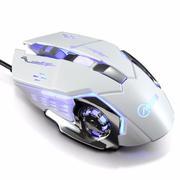 Chuột game thủ cực bền thiết kế độc lạ có LED nhiều màu (Trắng Bạc)