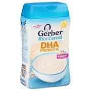Bột ăn dặm Gerber Rice DHA & Probiotic 227 gr