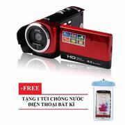Máy quay phim cầm tay ELITEK HD Digital VIDEO 16X + Túi chống nước bất kì(Red)