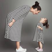 Đầm thun kẻ 2 (cho mẹ và bé) A4990