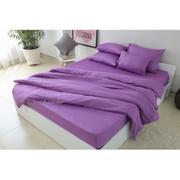 Bộ drap Bọc trải giường, áo gối, (Lavender) 140x200cm
