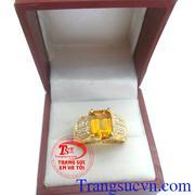 Nhẫn nam sapphire vàng mệnh kim