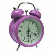 Đồng hồ báo thức để bàn Mini Alarm chuông to ( Tím )