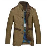 Jacket nam dáng dài khóa lửng cao cấp Nleidun