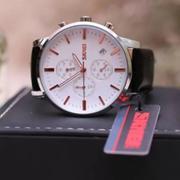 Đồng hồ nam dây da SKMEI chạy Full 06 kim + Tặng kèm vòng tay phong thủy