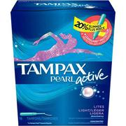 BĂNG VỆ SINH TAMPAX PEARL ACTIVE PLASTIC - LIGHT UNSCENTED (18 TAMPONS)
