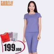 Bộ lửng mặc nhà vai phối họa tiết Sunfly (Oải hương) SP1307