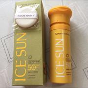 Kem chống nắng ICE SUN SPF50+ – Nature republic ice puff sun